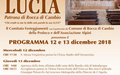 Festeggiamenti in onore di Santa Lucia