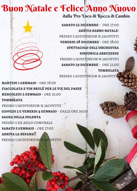 Programma inverno 2018