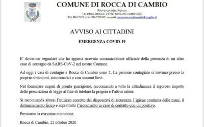AVVISO COVID-19 AGGIORNAMENTO